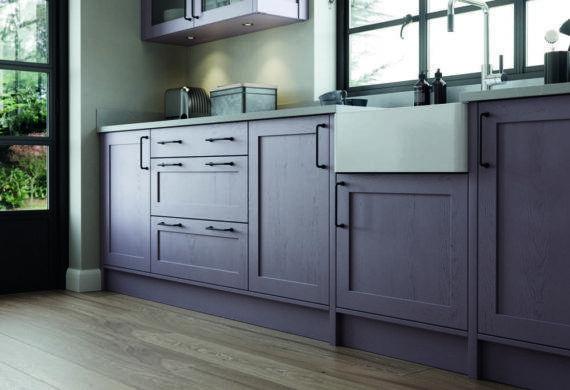 purple kitchen fitted aberdare