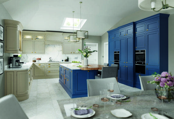 kitchen design blue